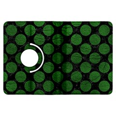 Circles2 Black Marble & Green Leather Kindle Fire Hdx Flip 360 Case