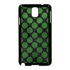 Circles2 Black Marble & Green Leather Samsung Galaxy Note 3 Neo Hardshell Case (black)