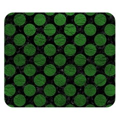 Circles2 Black Marble & Green Leather Double Sided Flano Blanket (small)