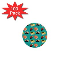 Sushi Pattern 1  Mini Buttons (100 Pack)