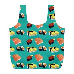 Sushi Pattern Full Print Recycle Bags (l)