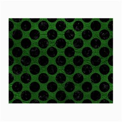 Circles2 Black Marble & Green Leather (r) Small Glasses Cloth (2 Side)