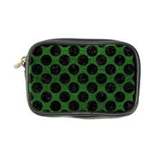 Circles2 Black Marble & Green Leather (r) Coin Purse