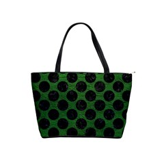 Circles2 Black Marble & Green Leather (r) Shoulder Handbags