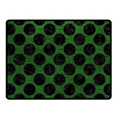 Circles2 Black Marble & Green Leather (r) Fleece Blanket (small)