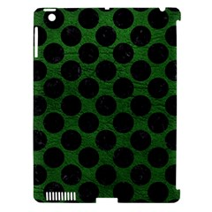 Circles2 Black Marble & Green Leather (r) Apple Ipad 3/4 Hardshell Case (compatible With Smart Cover)