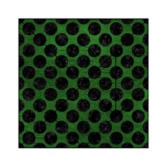 Circles2 Black Marble & Green Leather (r) Acrylic Tangram Puzzle (6  X 6 )