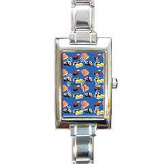 Sushi Pattern Rectangle Italian Charm Watch