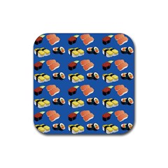 Sushi Pattern Rubber Square Coaster (4 Pack)