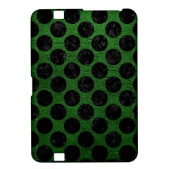 Circles2 Black Marble & Green Leather (r) Kindle Fire Hd 8 9