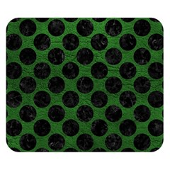 Circles2 Black Marble & Green Leather (r) Double Sided Flano Blanket (small)