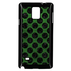 Circles2 Black Marble & Green Leather (r) Samsung Galaxy Note 4 Case (black)