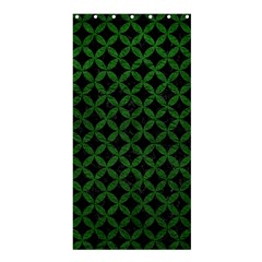 Circles3 Black Marble & Green Leather Shower Curtain 36  X 72  (stall)