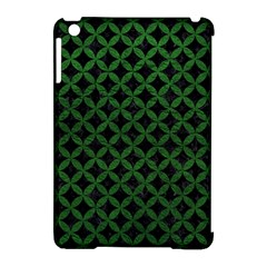 Circles3 Black Marble & Green Leather Apple Ipad Mini Hardshell Case (compatible With Smart Cover)