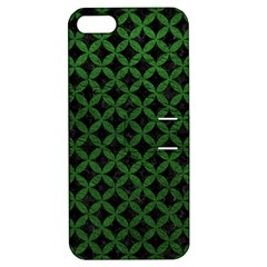 Circles3 Black Marble & Green Leather Apple Iphone 5 Hardshell Case With Stand