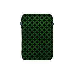 Circles3 Black Marble & Green Leather Apple Ipad Mini Protective Soft Cases