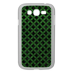 Circles3 Black Marble & Green Leather Samsung Galaxy Grand Duos I9082 Case (white)