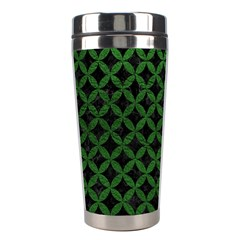 Circles3 Black Marble & Green Leather Stainless Steel Travel Tumblers