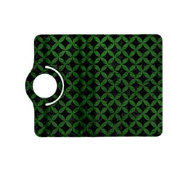Circles3 Black Marble & Green Leather Kindle Fire Hd (2013) Flip 360 Case
