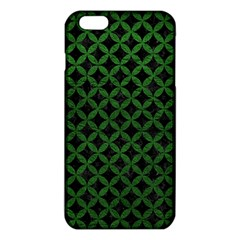 Circles3 Black Marble & Green Leather Iphone 6 Plus/6s Plus Tpu Case