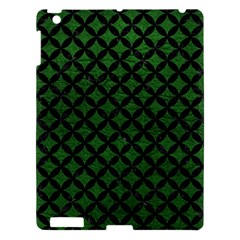 Circles3 Black Marble & Green Leather (r) Apple Ipad 3/4 Hardshell Case