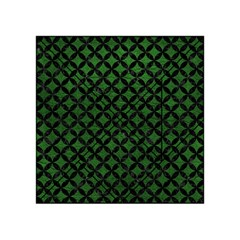 Circles3 Black Marble & Green Leather (r) Acrylic Tangram Puzzle (4  X 4 )