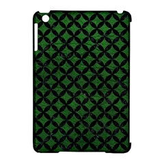 Circles3 Black Marble & Green Leather (r) Apple Ipad Mini Hardshell Case (compatible With Smart Cover)