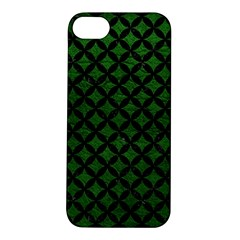 Circles3 Black Marble & Green Leather (r) Apple Iphone 5s/ Se Hardshell Case