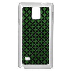 Circles3 Black Marble & Green Leather (r) Samsung Galaxy Note 4 Case (white)