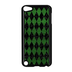 Diamond1 Black Marble & Green Leather Apple Ipod Touch 5 Case (black)