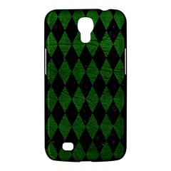 Diamond1 Black Marble & Green Leather Samsung Galaxy Mega 6 3  I9200 Hardshell Case