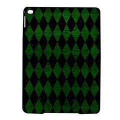 Diamond1 Black Marble & Green Leather Ipad Air 2 Hardshell Cases
