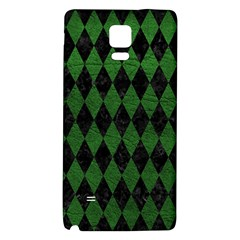 Diamond1 Black Marble & Green Leather Galaxy Note 4 Back Case