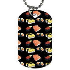 Sushi Pattern Dog Tag (two Sides)