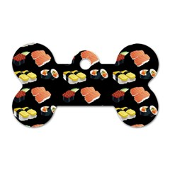 Sushi Pattern Dog Tag Bone (two Sides)