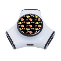 Sushi Pattern 3 Port Usb Hub