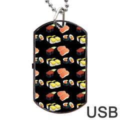 Sushi Pattern Dog Tag Usb Flash (one Side)