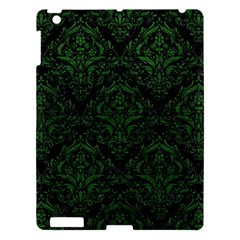 Damask1 Black Marble & Green Leather Apple Ipad 3/4 Hardshell Case