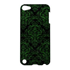 Damask1 Black Marble & Green Leather Apple Ipod Touch 5 Hardshell Case