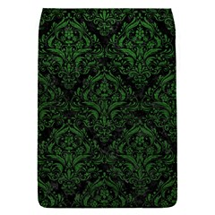 Damask1 Black Marble & Green Leather Flap Covers (s)