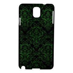 Damask1 Black Marble & Green Leather Samsung Galaxy Note 3 N9005 Hardshell Case