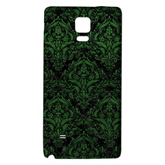 Damask1 Black Marble & Green Leather Galaxy Note 4 Back Case