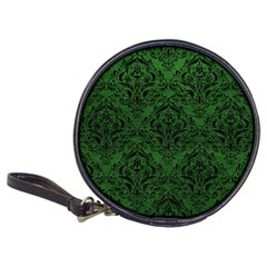 Damask1 Black Marble & Green Leather (r) Classic 20 Cd Wallets