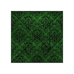 Damask1 Black Marble & Green Leather (r) Acrylic Tangram Puzzle (4  X 4 )