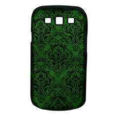 Damask1 Black Marble & Green Leather (r) Samsung Galaxy S Iii Classic Hardshell Case (pc+silicone)