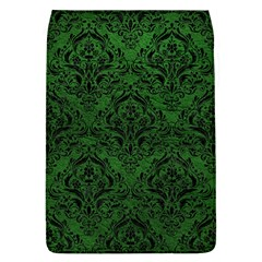 Damask1 Black Marble & Green Leather (r) Flap Covers (l)