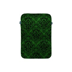 Damask1 Black Marble & Green Leather (r) Apple Ipad Mini Protective Soft Cases