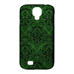 Damask1 Black Marble & Green Leather (r) Samsung Galaxy S4 Classic Hardshell Case (pc+silicone)