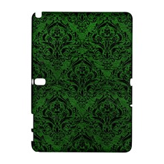 Damask1 Black Marble & Green Leather (r) Galaxy Note 1