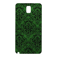 Damask1 Black Marble & Green Leather (r) Samsung Galaxy Note 3 N9005 Hardshell Back Case
